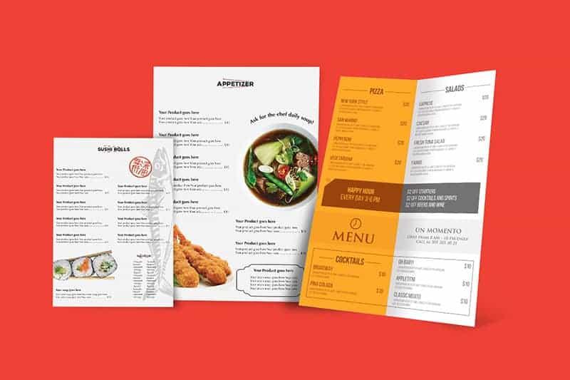 Restaurant Menu Cards